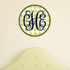 Monogram Houndstooth Personalized Fabric Wall Decal
