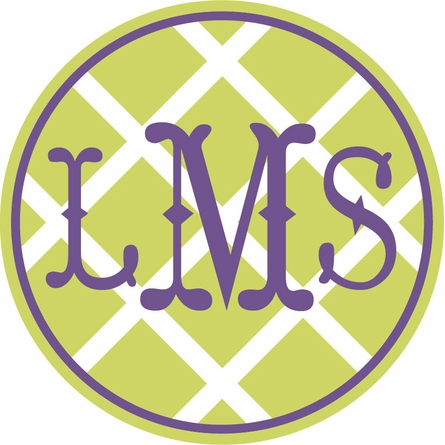Monogram Lattice Personalized Fabric Wall Decal