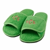 Monogram Slippers in Lime Green
