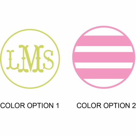 Monogram Stripes Personalized Fabric Wall Decal