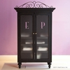 Monogrammed Armoire in Black