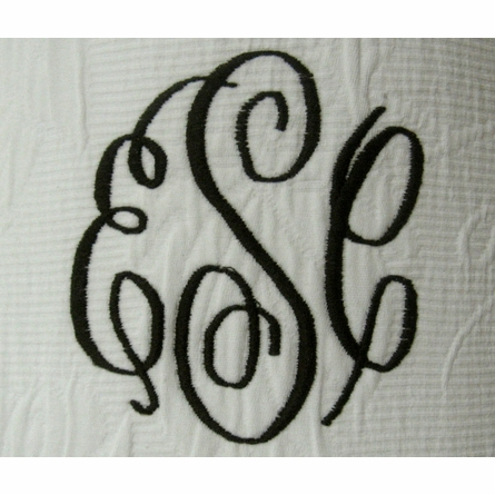 Monogrammed Linen Nightlight