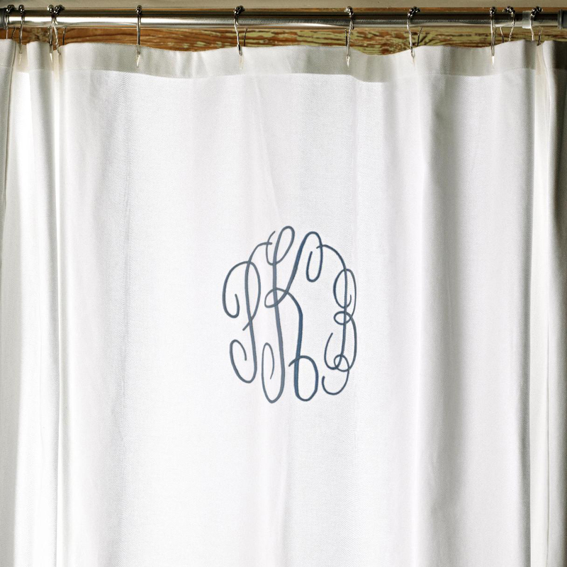 traditional traditional kids decor monogrammed shower curtain