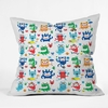 Monster Love Throw Pillow
