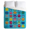 Monster Mash Blue Luxe Duvet Cover