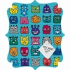 Monster Mash Blue Quatrefoil Magnet Board