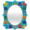 Monster Mash Blue Quatrefoil Mirror