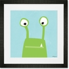 Monster Mugs - Green Framed Art Print