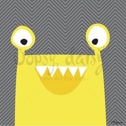 Monster Mugs in Yellow Canvas Wall Art