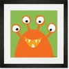 Monster Mugs - Orange Framed Art Print