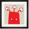 Monster Mugs - Red Framed Art Print