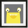 Monster Mugs - Yellow Framed Art Print