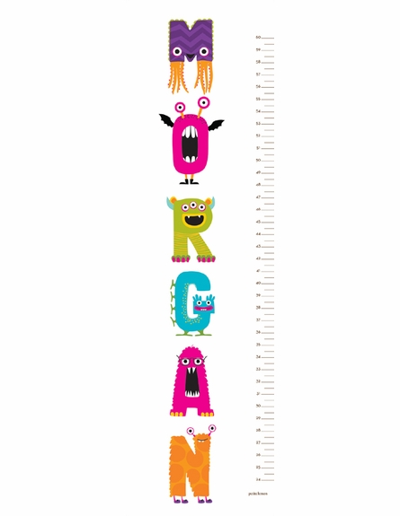 Monsterific Personalized Growth Chart