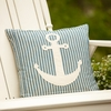 Montauk Stripe Anchor Pillow