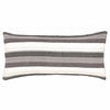Montego Stripe Grey Chenille Decorative Pillow