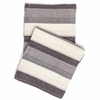 Montego Stripe Grey Chenille Throw Blanket