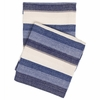 Montego Stripe Indigo Chenille Throw