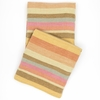 Montego Stripe Melon Chenille Throw Blanket
