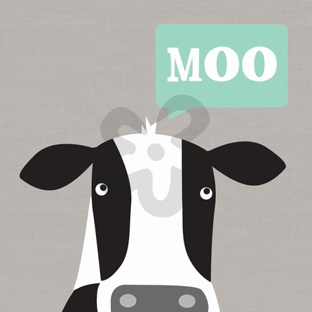 Moo - Cow Canvas Wall Art