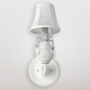 Moon Milk Glass Hobnail Wall Sconce