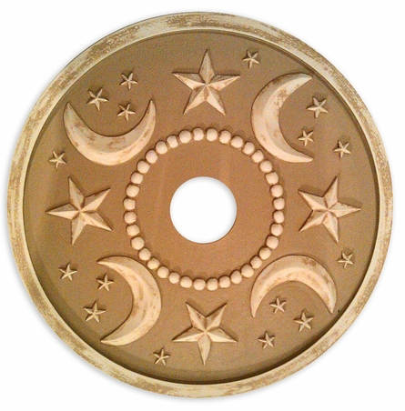 Moon & Stars Round Chandelier Medallion