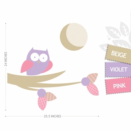 Moonlight Owl Wall Decal