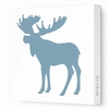 Moose Silhouette Canvas Wall Art