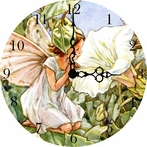 Morning Glory Fairy Vintage Wall Clock