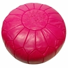 Moroccan Pouf - Fuchsia Leather