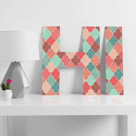 Morocco Pastel Decorative Letters