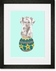 Morris On His Ball Framed Art Print