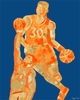 Mosaic Basketball Player Canvas Wall Art