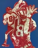 Mosaic Football Player Canvas Wall Art