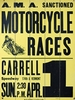 Motorcycle Races Vintage Wood Sign