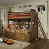 Mountain Cabin Twin over Twin Bookcase Bunk Bed