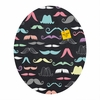 Moustaches Oval Magnet Board