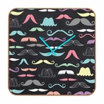 Moustaches Square Wall Clock
