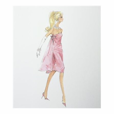 Barbie Art Print Couture Barbie Art Print