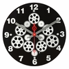 Moving Gear Wall Clock with Black Dial