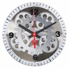 Moving Gear Wall Clock with Glass Cover