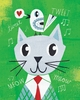 Mr. Cat Green Art Print