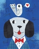 Mr. Dog Blue Art Print