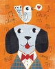 Mr. Dog Orange Art Print
