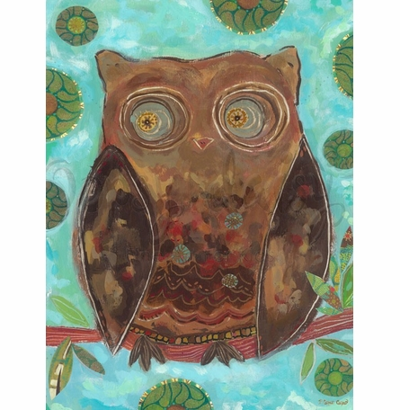Mr. Hooty Hoots Canvas Wall Art