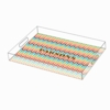 Multi Chevron Personalized Acrylic Tray