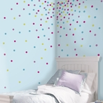 Multi Color Glitter Confetti Dots Wall Decals