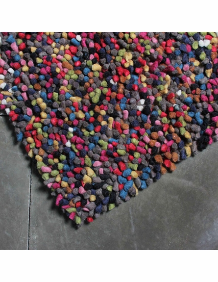 Multi Color Lil Wooly Rug