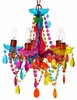 Multi-Colored Gypsy Mini Chandelier