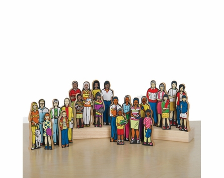 Multi-Cultural Family Figure Set