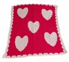 Multi Hearts and Scallops Stroller Blanket